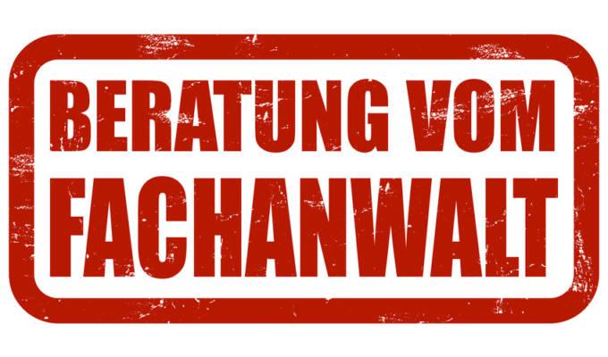 Grunge Stempel rot BERATUNG VOM FACHANWALT